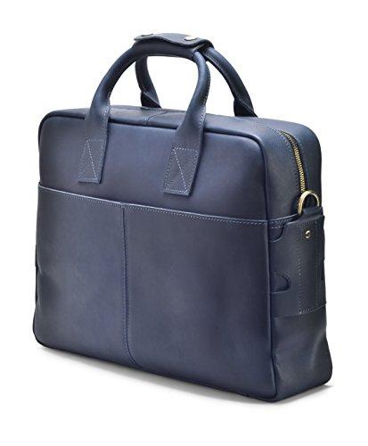 """Hølssen Men's Leather Briefcase Messenger Bag (Dark Blue) Professional Business Satchel w/ 15"""" Laptop Pocket by Hølssen (Image #1)"""
