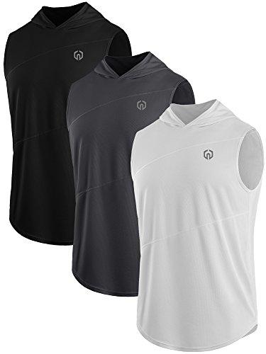 Neleus Workout Running Sleeveless Hoodies product image