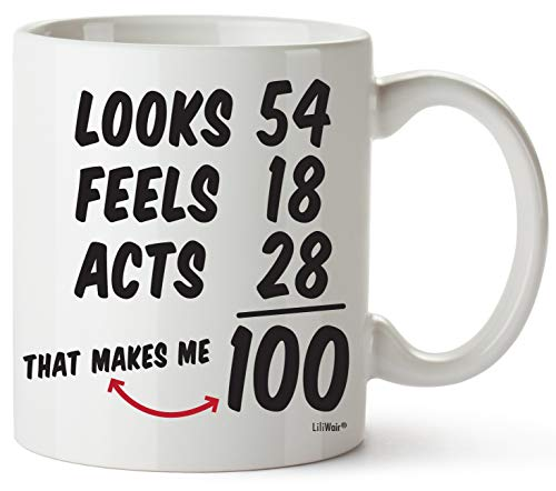- 100th Birthday Gifts For Women Hundred Years Old Men Gift Mugs Happy Funny 100 Mens Womens Womans Wifes Female Man Best Friend 1919 Male Mug Unique Ideas 19 Woman Wife Gag Dad Cute Girls Guys Good