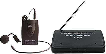Amazon Com Professional Wireless Microphone Transmitter And Receiver Headset Mic For Recording Speaker Karaoke Singing Musical Instruments