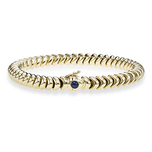 14k Yellow Gold 0.43ct Sapphire Fancy Dragon Link Bracelet, 7.5 inches