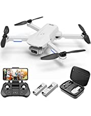 4DRC F8 GPS Drone with Camera for Adults,4K Drone with HD Live Video Camera,Brushless Motor RC Quadcopter with Auto Return Home,Follow Me,Long Control Range,60 Minutes Flight Time,with Carrying Bag