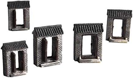 non-brand 20 Piezas Juego de Mesas en Miniatura Modelo de Mesa de Arena Construcción de Resina Hecha a Mano - Cian: Amazon.es: Juguetes y juegos