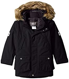 Amazon.com: Jack Wolfskin Boys Calgary Parka Jacket, 152, Black ...