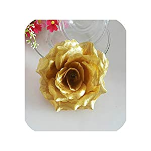10PCS Artificial Roses Silk Flower Heads Wedding Home Decoration 76