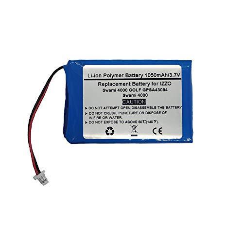 3.7V/1000mAh Replacement GPS Navigator Battery for Izzo Swami 4000, Swami 4000 Golf GPSA43094,H603450H
