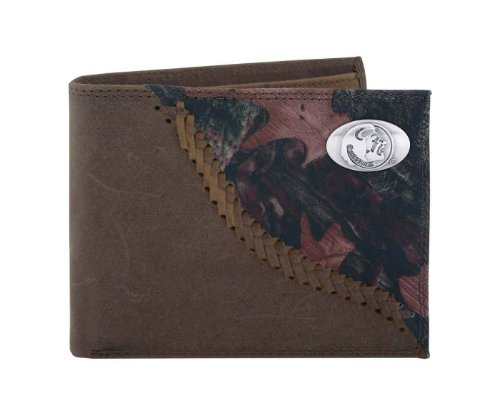 Bi Fold State College Wallet (NCAA Florida State Seminoles Camouflage Leather Bifold Concho Wallet, One Size)