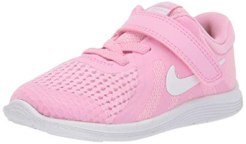 Nike Girls Revolution 4 (TDV) Sneaker, Rise/White-Pink Foam-Black, 5C Regular US Toddler (Shoes Wide Baby Nike)