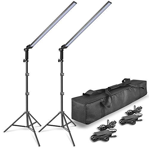 EMART 2x30W Photography LED Video Light Wand 5600K Ice Light Photo Lighting Kit for Camera Photo Studio Shooting,Youtube, Professional LED Continuous Light with Tripod Stand from EMART