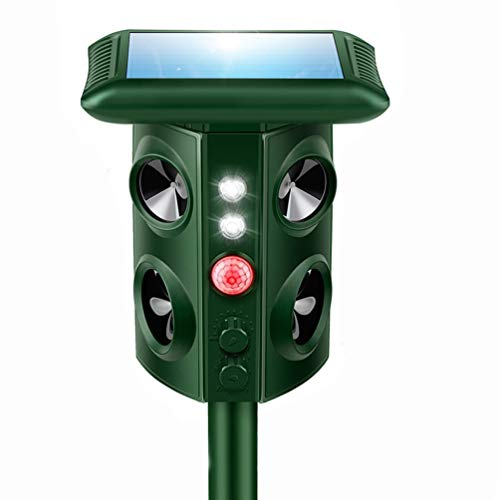 Solar Mole Snake Repeller, [New 2019 Upgraded] Ultrasonic Animal Repellent Vibrating Rodent Repellent Sonic Wave Pest Repeller Gopher Repeller Vole Chaser Pest Deterrent