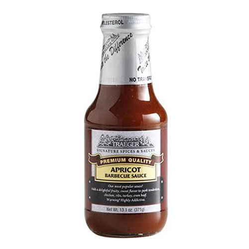 Traeger pellet grills spc105 apricot barbeque sauce, 13.1 ounce