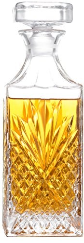 Connoisseur Decanter - Palais Glassware 'Connoisseur' Elegent Whiskey Decanter with Airtight Geometric Stopper, 28 Ounce (Artistic)