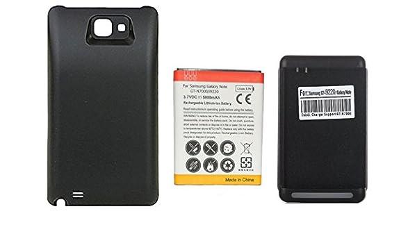 Amazon.com: 5000mAh Batería Extendida con Carcasa Negra + ...