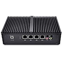 Best pc Router Qotom-Q310G4 4G ram 32G SSD Celeron Processor 3215U 1.7GHz DC 12V super pc 4Lan ports firewall