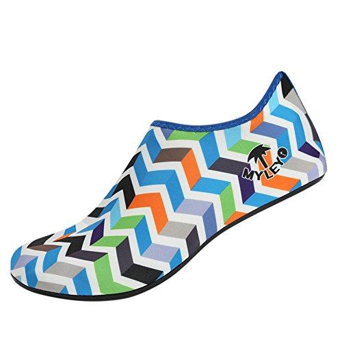 ESHOO Unisex Agua Zapatos para playa nadar Surf Yoga azul