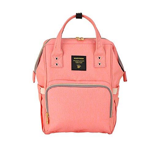 Mamá Y Bolsillo naranja Sunveno Para Pink Bolsa Cambiadora Aislado La Orange De Viaje Pañales Impermeable Con Mochila Organizador El Papá Rosa TTPrxv
