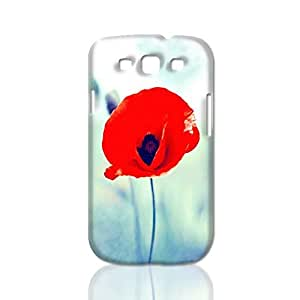 Attractive Red Poppy 3D Rough Case Skin, fashion design image custom, durable hard 3D case cover, Case New Design for Samsung Galaxy S3 I9300 , By Codystore