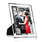 frame a mirror  8x10 Picture Frame Desk Glass Mirror Photo Frames, Nice Gift for Family & Friends