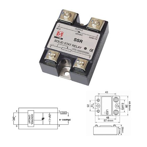 Wotefusi Solid State Relay Voltage Resistance Regulator 40A 380V