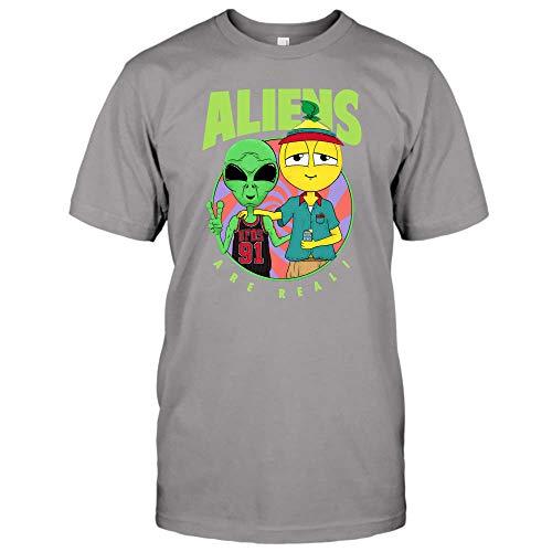Aliens UFOs 91 are Real Lyrical Lemonade T-Shirt, Hoodie (Unisex T-Shirt;Sport Grey;S)