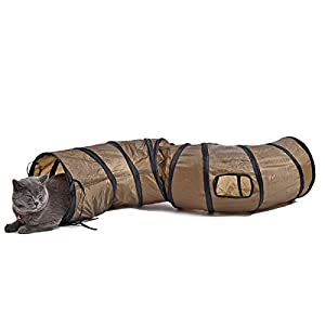 PAWZ Road Cat Toys Collapsible Tunnel for Rabbits, Kittens, Ferrets and Dogs 50