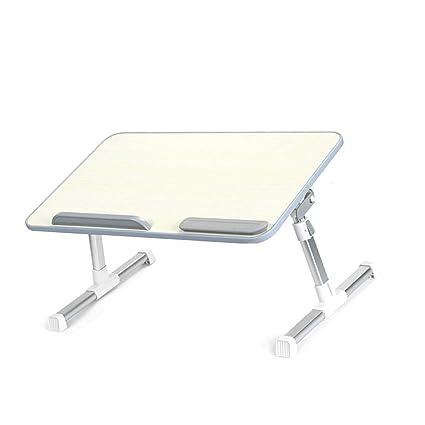 mesa plegable Cama Plegable, Mesa de Ordenador Portátil, Ángulo de Panel Ajustable, Altura
