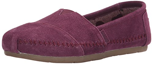 Skechers BOBS Von Frauen Luxe Fashion Slip-On Flat Pflaume Wildleder