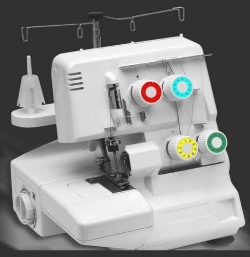 Overlock + coser brazo libre 3 – 4 hilos 2 – 1 agujas + accesorios Top dispositivo: Amazon.es: Hogar