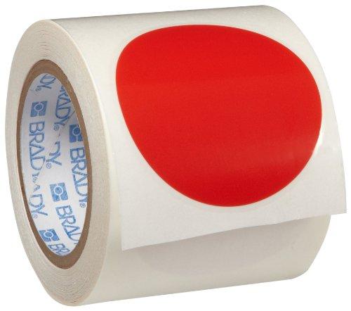 Tape Marking Red Aisle (Brady ToughStripe Nonabrasive Dot Shaped Floor Marking Tape, 3.5