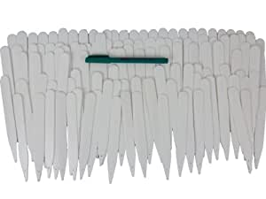 "Garden Helpers 6"" Plastic Plant Labels and Plant Marker Pen, 100-Pack"