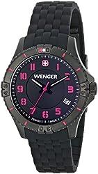 Wenger Women's 0121.105 Analog Display Swiss Quartz Black Watch
