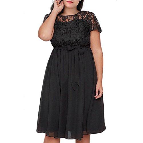 Dress Women Sleeve with Belt Black Tunic Simple Casual Short Empire Waist Coolred RCUq7U