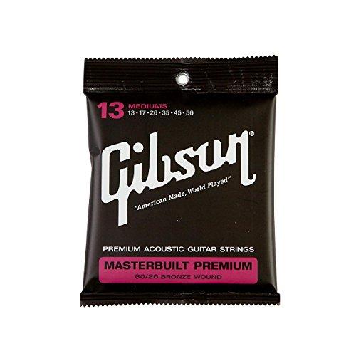 Gibson Gear SAG-BRS13 Masterbuilt Premium 8020 Brass Strings, .013-.056 (Gibson Masterbuilt Premium Acoustic Guitar)