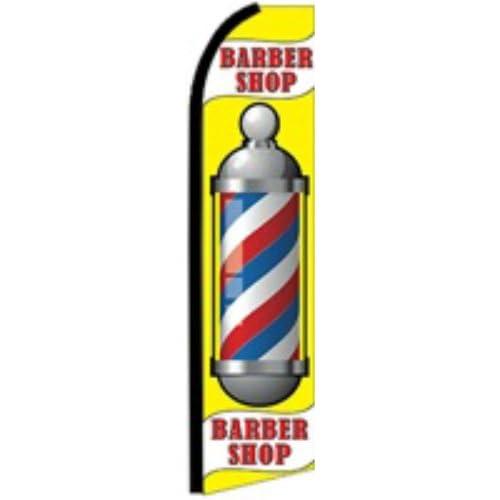 Nice Barber Shop Swooper Flutter Flag (3ft x 11.5ft) free shipping