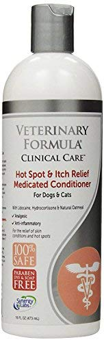 SynergyLabs Veterinary Formula Clinical Care Hot Spot & Itch Relief Medicated Conditioner for Dogs and Cats; 16 fl. oz. (2 Pack) by SynergyLabs