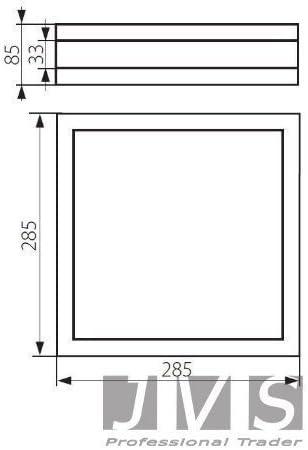 luce bianca calda da parete, include 2 LED, 10 W, E27-2 x 900 lm per LED /& ESL quadrata JVS-Handel PROVANCE IP44 Lampada da soffitto