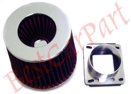 86-90 91 92 Mazda Rx7 Rx-7 Intake Filter =Maf Adapter(included Red Air  Filter)