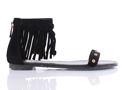 Bambù Casual Strappy Indietro Zip Aperto Stile Increspato Scarpe Donna Sandali Taglia Scarpe Casual Nuove Senza Scatola Nera