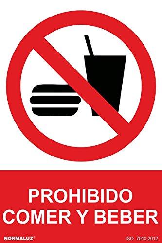 Normaluz RD40012 - Señal Prohibido Comer Y Beber PVC Glasspack 0,7mm 21x30 cm