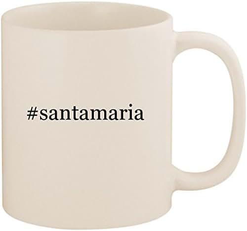#santamaria - 11oz Ceramic Coffee Mug Cup, White