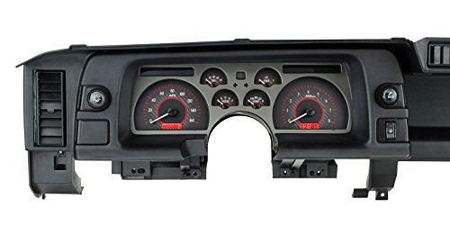 Dakota Digital Dash 90 91 92 Chevy Camaro Analog Dash Gauge Cluster Carbon Fiber Red VHX-90C-CAM-C-R