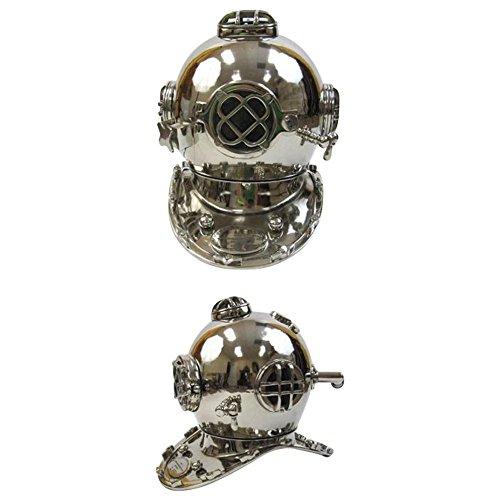 Deep Sea Diving Helmet Costume (Aluminum Divers Helmet Mark Five - Chrome Finish Outdoor Camping Gear)