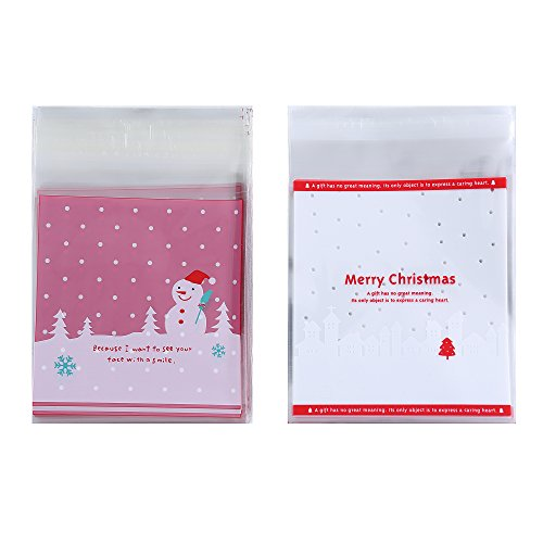 (Felice Arts 200pcs Christmas Series Biscuit Candy Bags 4