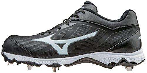Mizuno Women's 9-Spike Advanced Sweep 3 Softball Shoe, Black/White, 9.5 D US