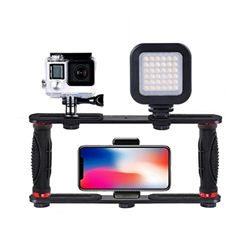 Gopro Rig, Handle Mount Grip Stabilizer Video Bracket for Gopro/SJCAM/Cell Phone/Microphone/Action Cameras by AceTaken