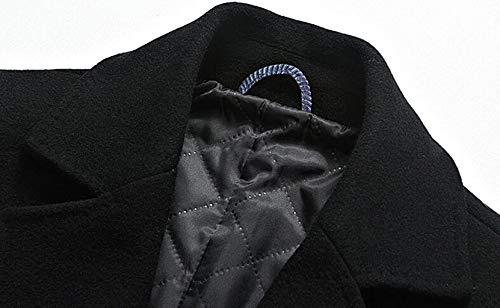 Giacca Giacca Giacca da Lunga Invernale di Sezione Lana e Spesso Spesso Spesso Coat Trench in Red Lana Moda Cappotto di Uomo Media in Spessa UFE6cIwcqZ