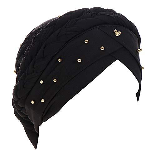 - EnjoCho Women Gift, 1PC Spa Cap Scarf Women Cancer Chemo Hat Beanie Scarf Turban Head Wrap Cap (Black)