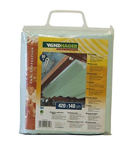 Windhager Sonnensegel für Seilspanntechnik, Cyanblau, 420 x 140 cm