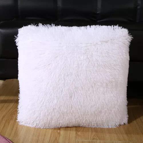 18 x 18 White Luxury Soft White Throw Pillows Faux Fur Fleece Cushion Cover Pillowcase Decorative Throw Pillows Covers No Pillow Insert 2 Pack 18 x 18 White Perwon