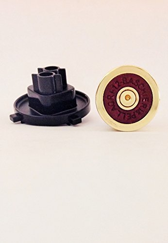 Photo - Microsoft Xbox 360 Wireless Controller Burgundy on Brass 12 Gauge Shotgun Shell D Pad Replacement Button Premium Self Install Mod Kit